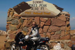 Eva Hakansson and ElectroCat at the summit of Pike's Peak, 2010.