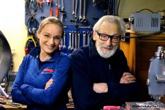Eva Hakansson with her dad Sven Hakansson.