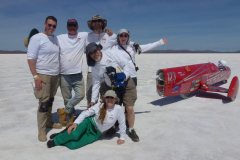 The KillaJoule team at Lake Gairdner, 2019. Photo by Martin Powditch